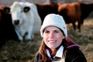 Sophie Atkinson, forskare vid SLU och expert på lantbrukdsdjurs naturliga beteenden.